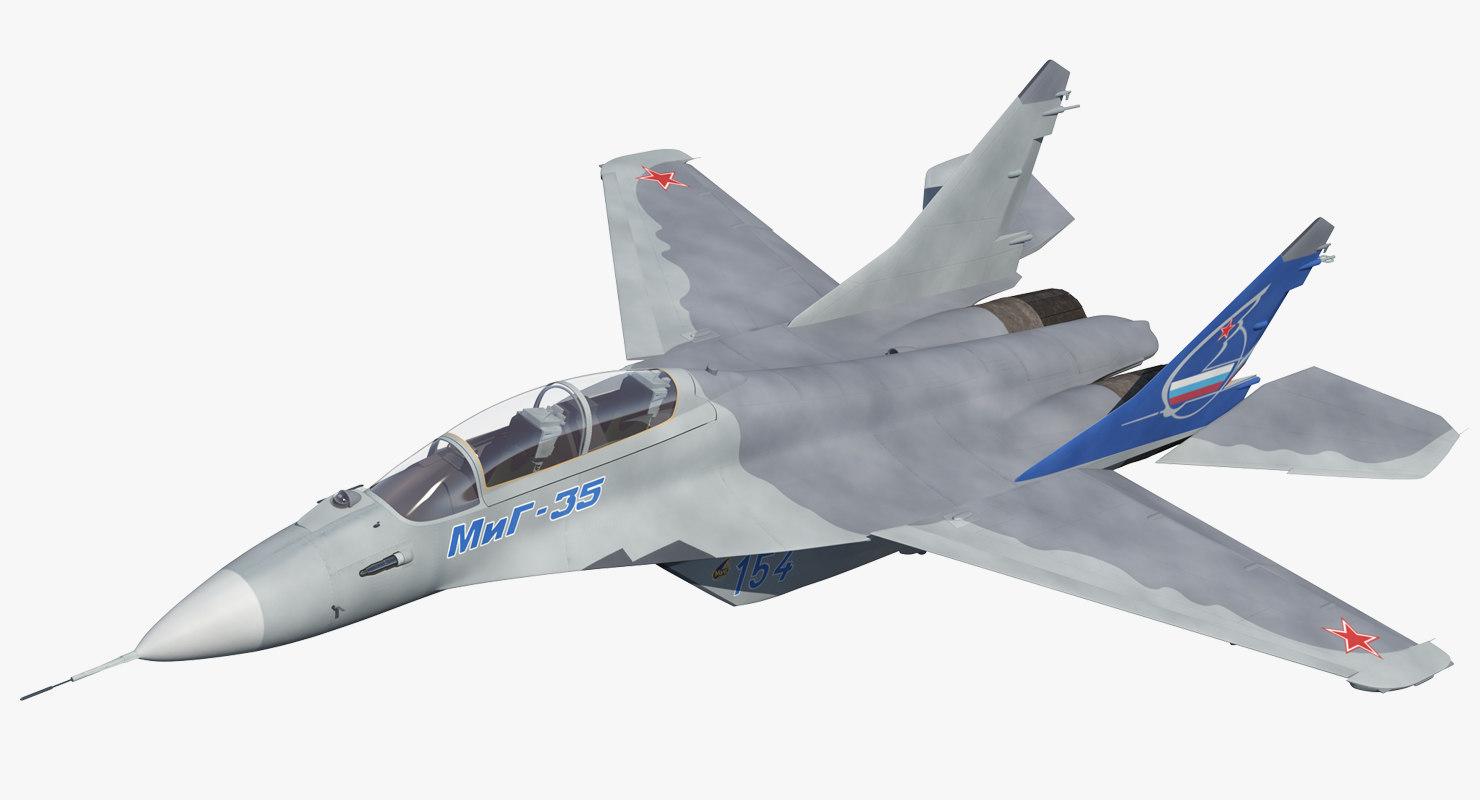 fighter mikoyan mig-35 fulcrum 3D model