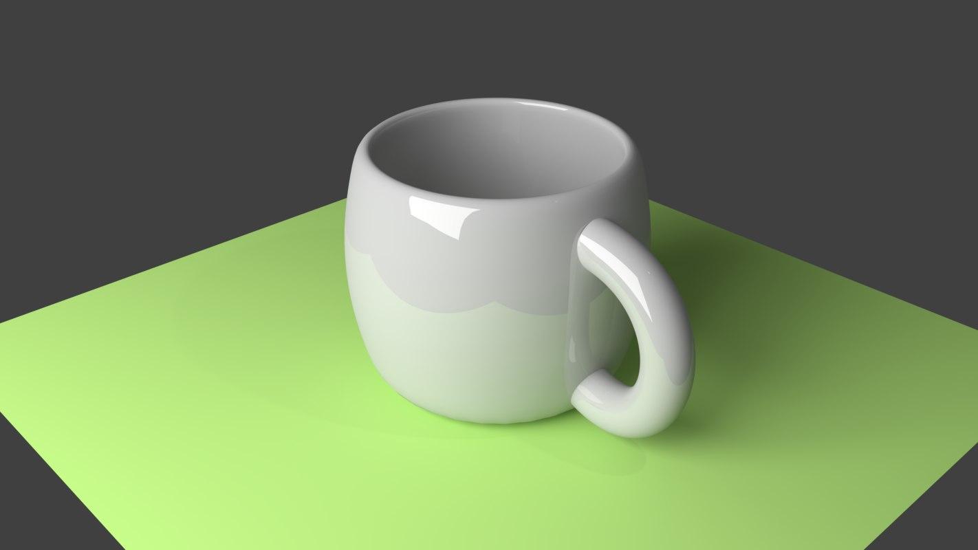 3D model ceramic coffee cup