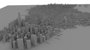 new york manhattan 3D