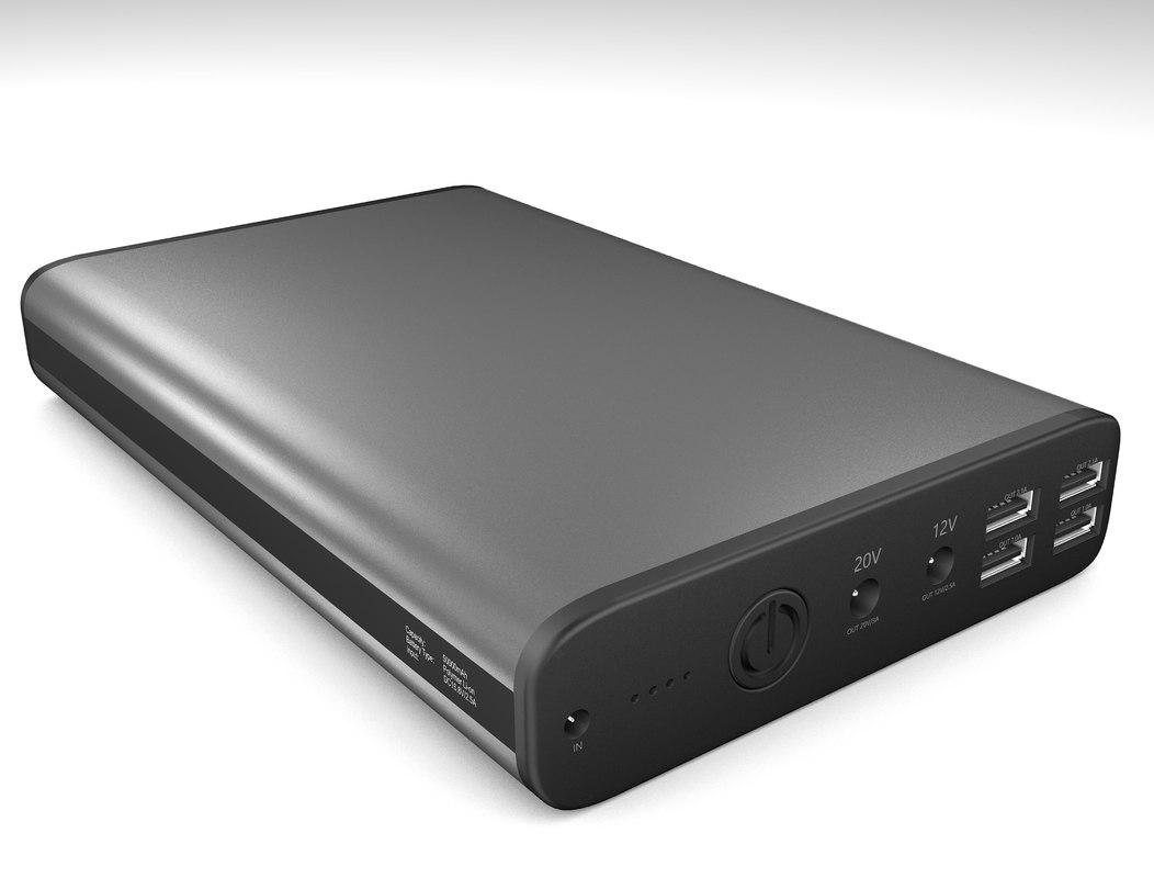 3D laptop power bank