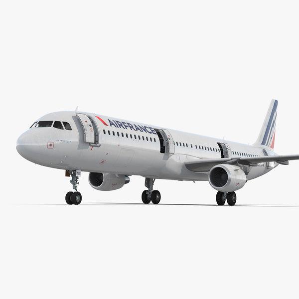 3D model airbus a321 air france