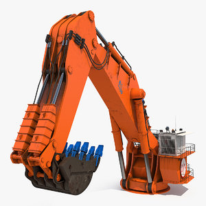 3D backhoe dredger backacter 1100 model