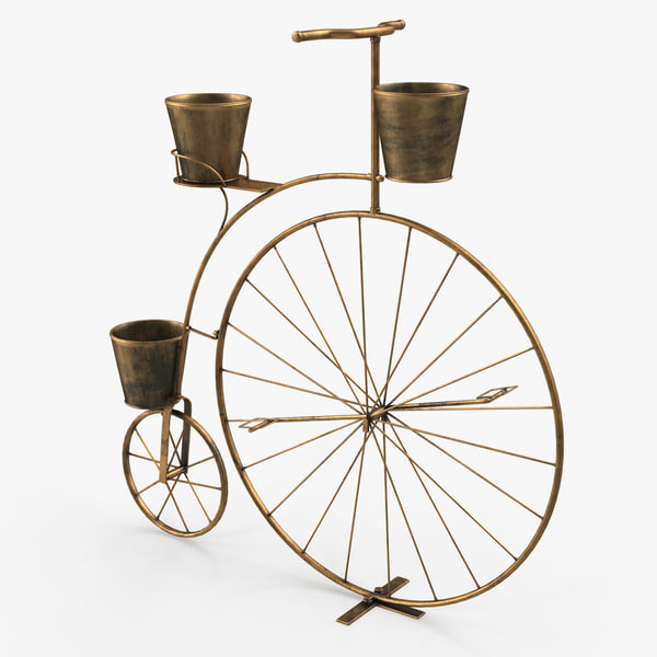 3D bicycle plant stand model