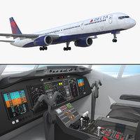 boeing 757-300 delta cabin 3D model