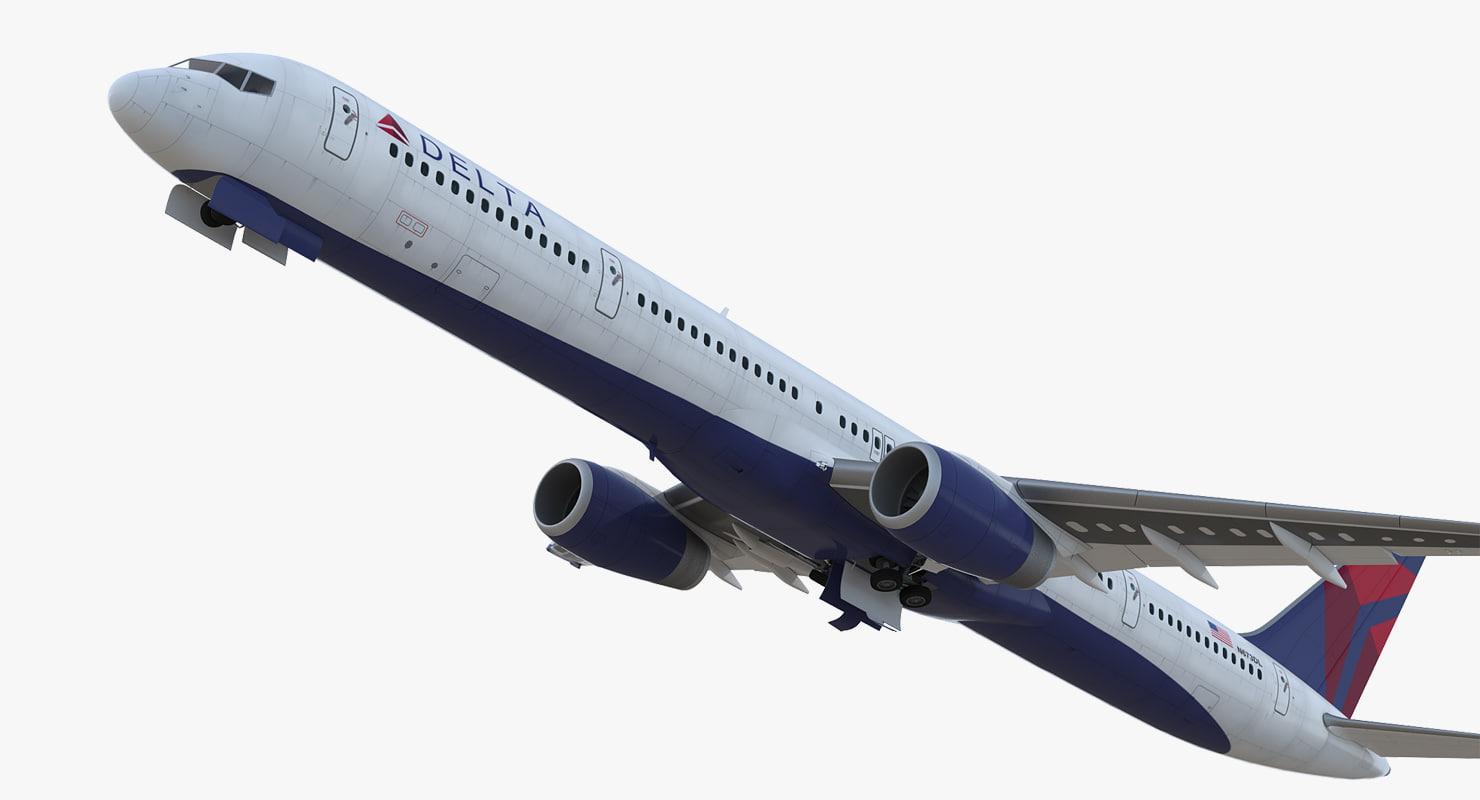 boeing 757-300 delta cabin 3D