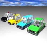 toon cop car 3D