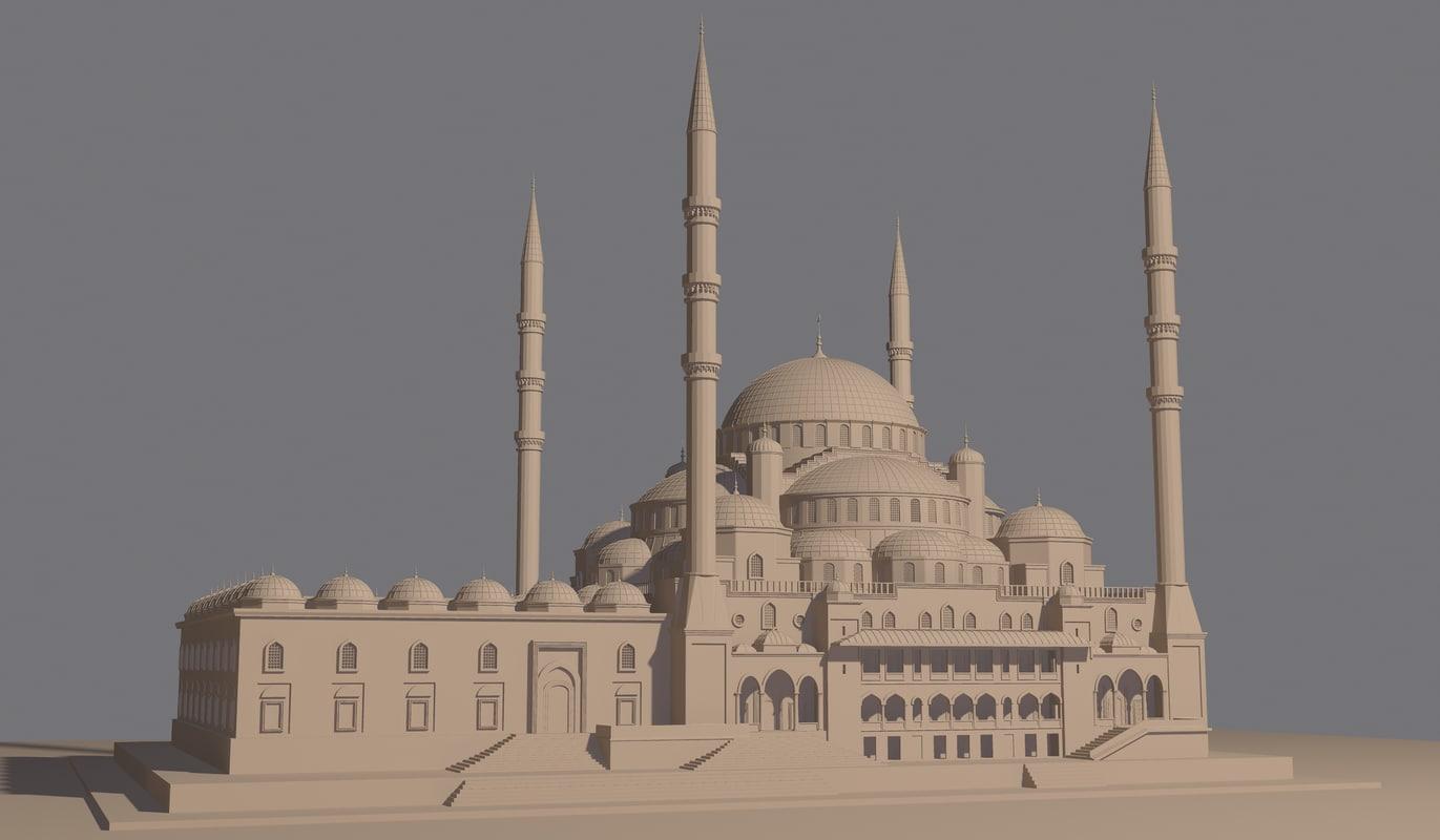 turkish mosque model