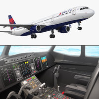 airbus a321 delta airlines 3D model