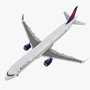 airbus a321 delta airlines 3D