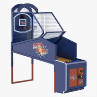 3D model arcade basketball machine