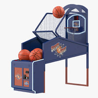 arcade basketball machine balls 3D model