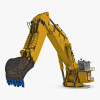 3D backhoe dredger 1100 rigged