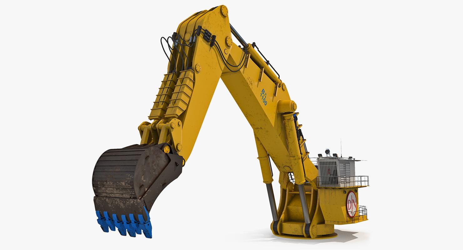 3D backhoe dredger 1100 rigged