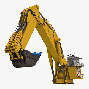 backhoe dredger 1100 3D model