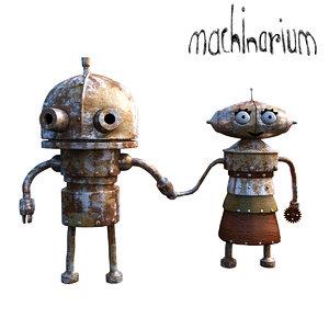 3D model robot machinarium