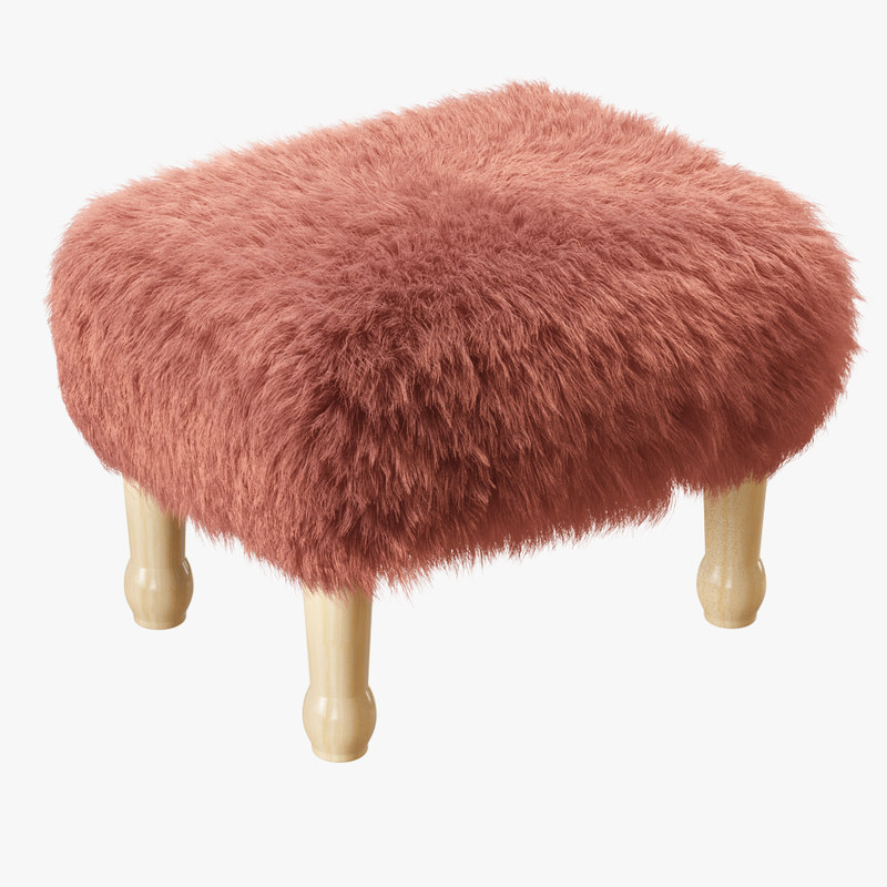 3D wool angharad sheepskin footstool