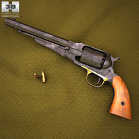 3D model remington 1858