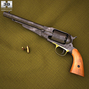 3D model remington 1858