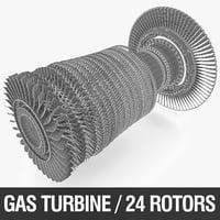 3D gas turbine rotor