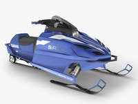 3D snowmobile yamaha rigged