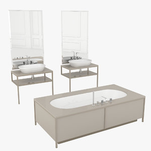 bathroom set algonquin 3D