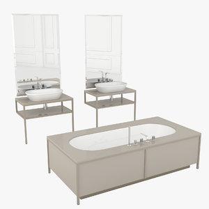 bathroom set algonquin 3D