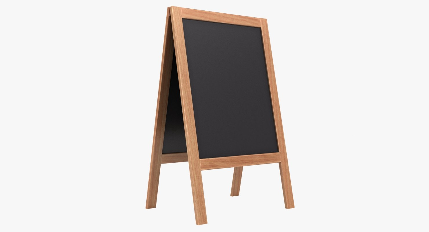 3D chalkboard 02 color 3 model