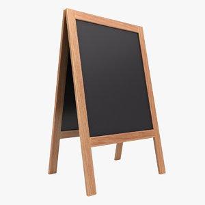 3D chalkboard 02 color 3 model