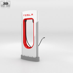 3D tesla supercharger super
