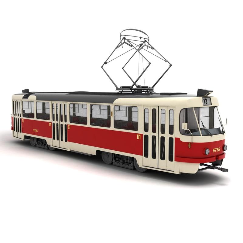 3D streetcar tatra t3 tram