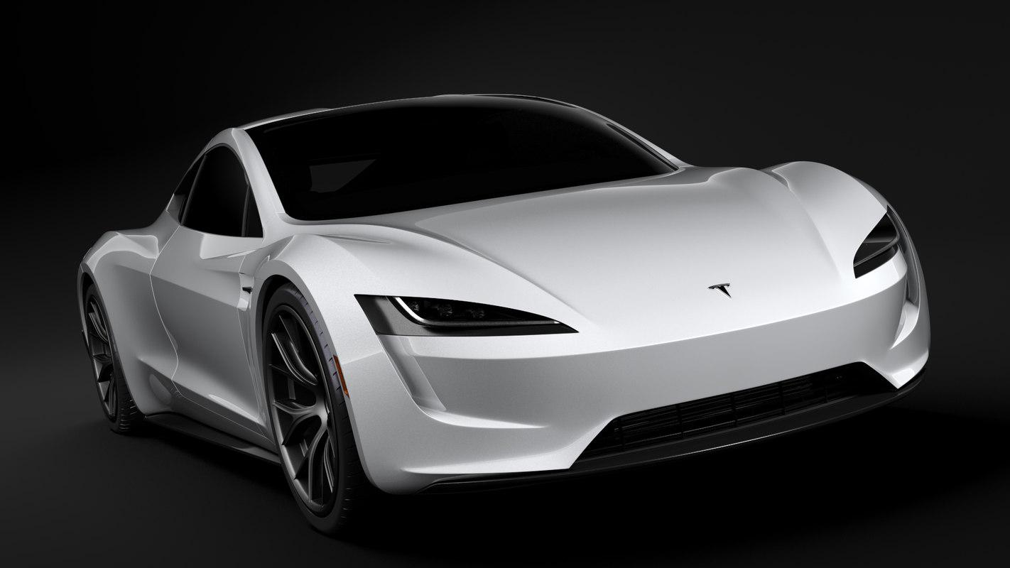 3D model tesla coupe 2020