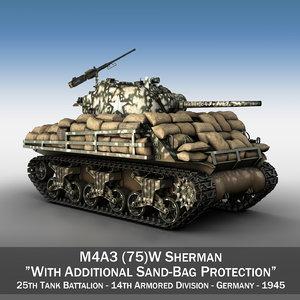 m4a3 75 w sherman 3D model