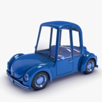 3D cartoon car beetle -