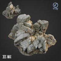 3D scanned rock cliff c model