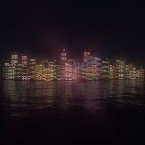 city night 3D model