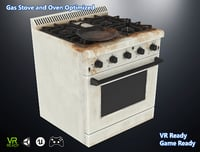 optimized gas stove 3D model