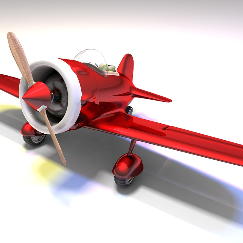 3D toy airplane