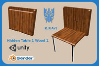 3D hidden table 1 wood