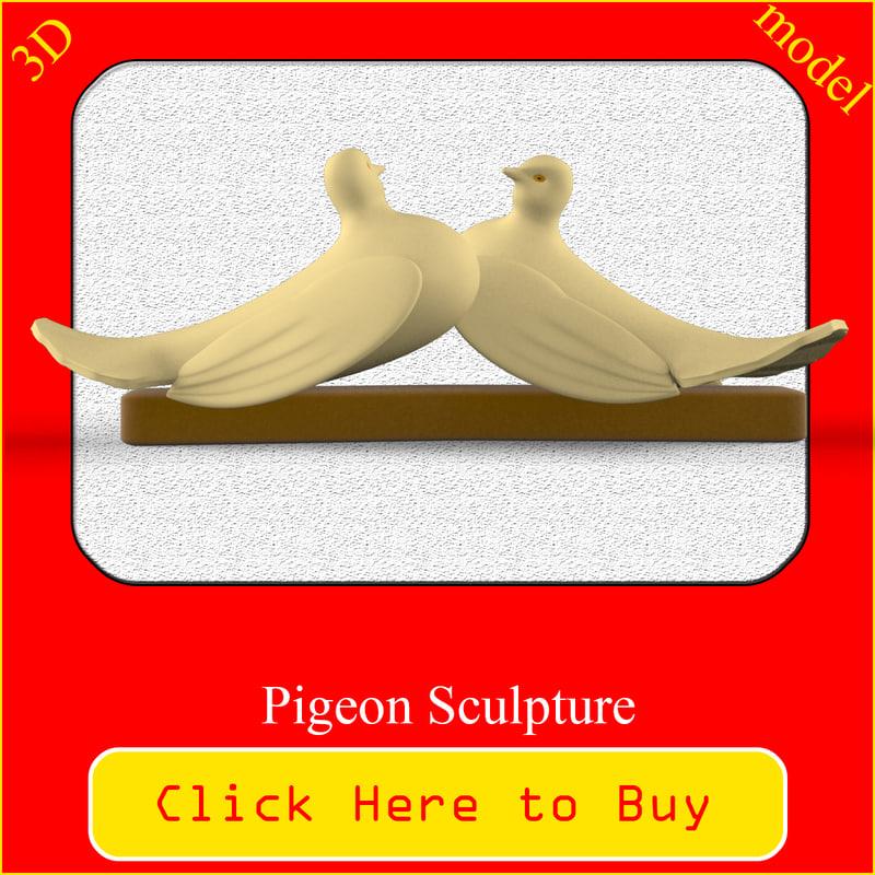 pigeon sculpture s 3D model