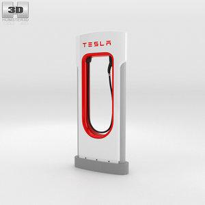tesla supercharger super 3D