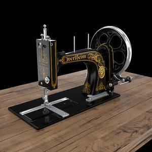 wertheim vintage sewing machine 3D model