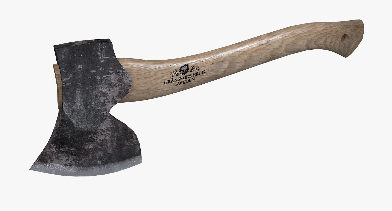 gransfors large carving axe 3D model