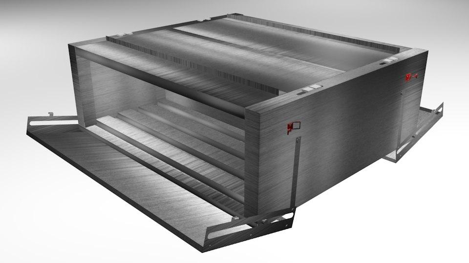 3D metal box