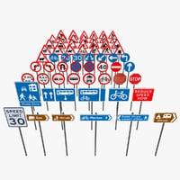 road signs 3D