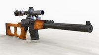 3D vss vintorez rifle gun