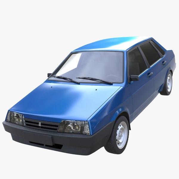 lada 21099 3D model