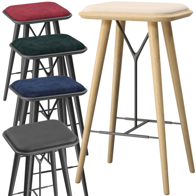 3D model fredericia spine stool