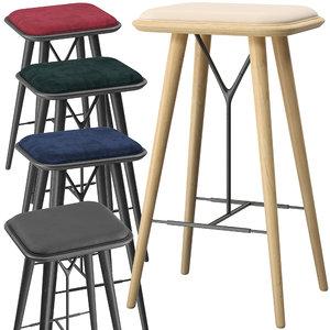 3D model fredericia spine stool