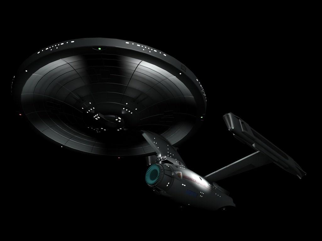 3D model constitution-class spaceship