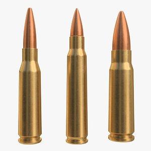 cartridge 5 45x39 56x45 3D model